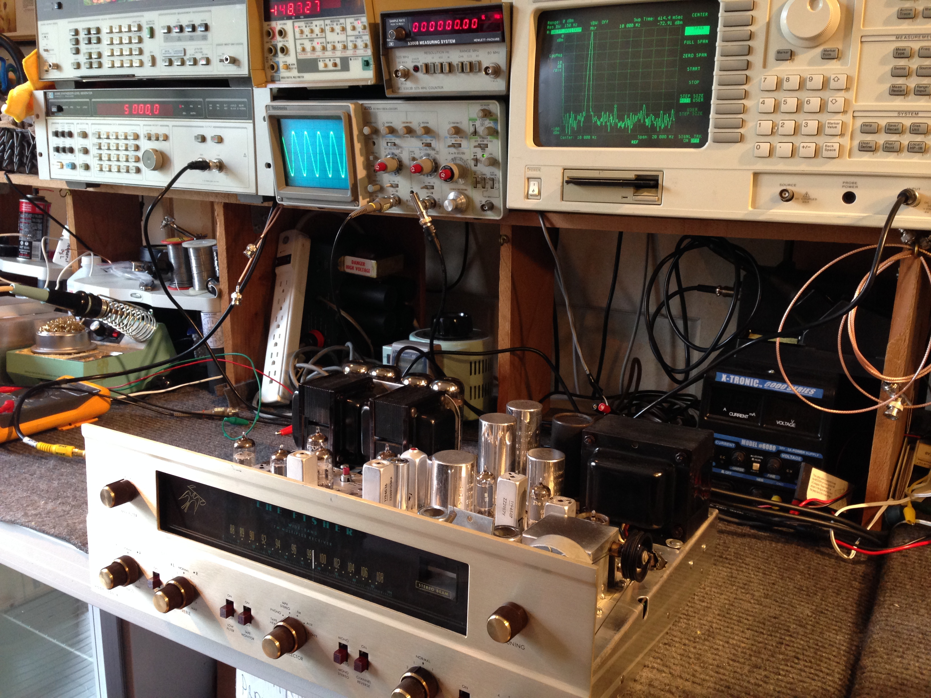 Stereo tube amplifier repair